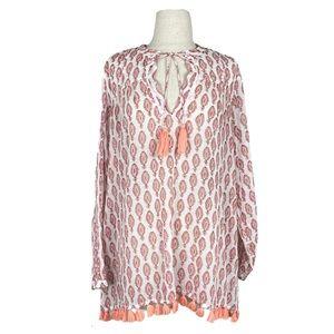 ROLLER RABBIT tassel tunic blouse | M